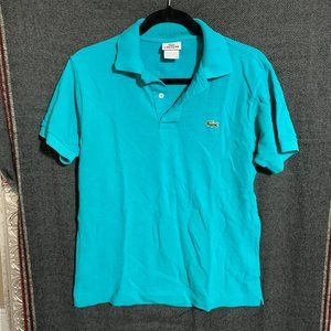 S turquoise lacoste polo